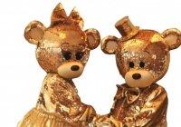 Мишки Тедди золотые
