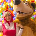 Маша и Медведь на детский день рождения