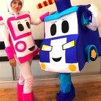 Робокары Поли и Эмбер на детский праздник