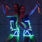 Неоновое,светодиодное, огненное шоу, салюты, огненные сердца на праздник в Одессе