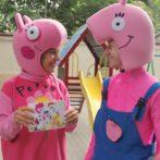 Свинка Пеппа и Джордж  на праздник в Одессе