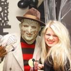 Хелоуин анимация, стол с головой, мумия