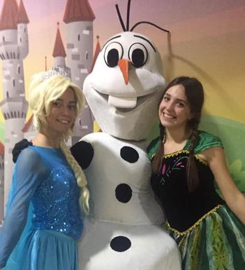 Эльза Холодное сердце, Анна и Олаф — аниматоры на праздник