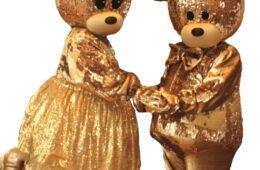 Мишки Тедди Золотые — ростовые куклы
